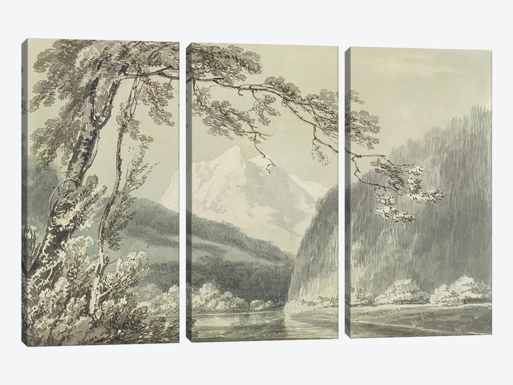 Near Grindelwald, c.1796 by J.M.W Turner 3-piece Canvas Art