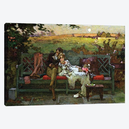 The Honeymoon  Canvas Print #BMN2628} by Marcus Stone Canvas Wall Art