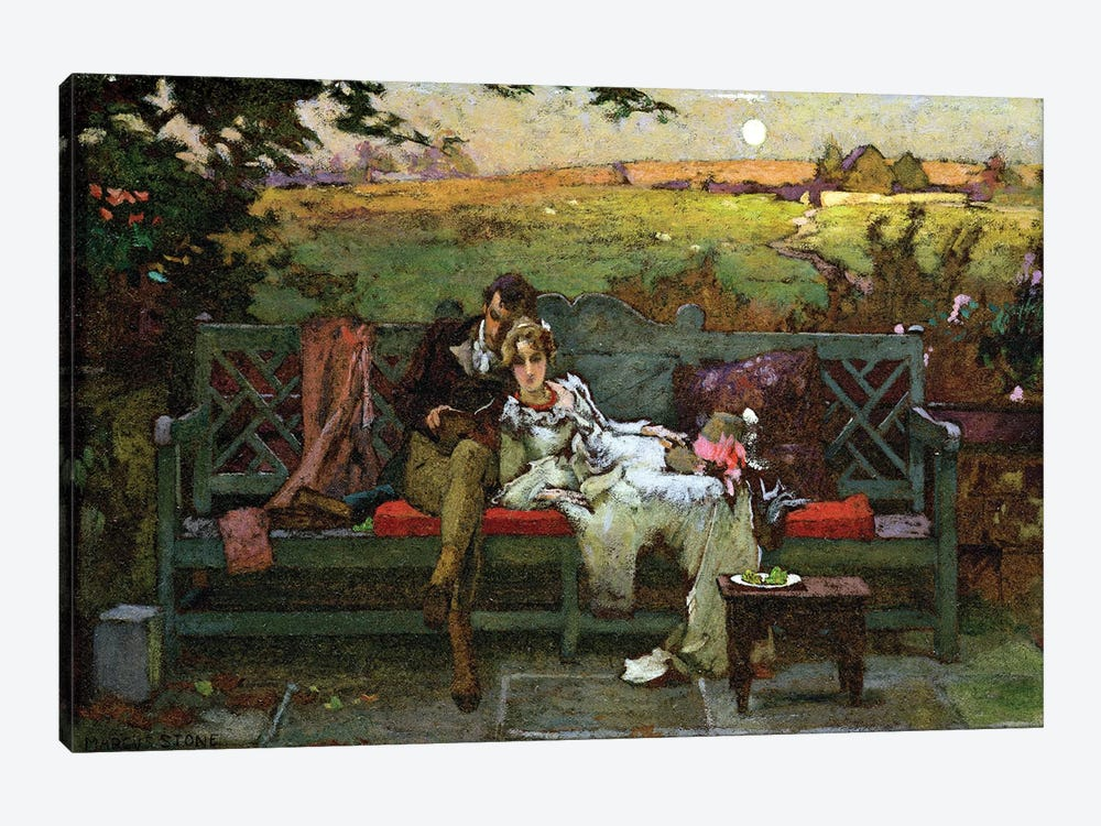 The Honeymoon  by Marcus Stone 1-piece Canvas Print