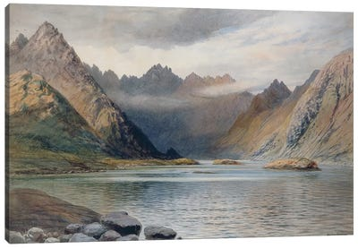 A Loch north of Hadrian's Wall, 1894  Canvas Art Print