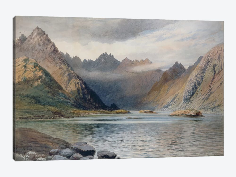 A Loch north of Hadrian's Wall, 1894  by Walter Severn 1-piece Canvas Wall Art