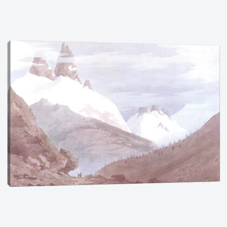 Chamonix and Martigny Canvas Print #BMN262} by John Robert Cozens Canvas Wall Art