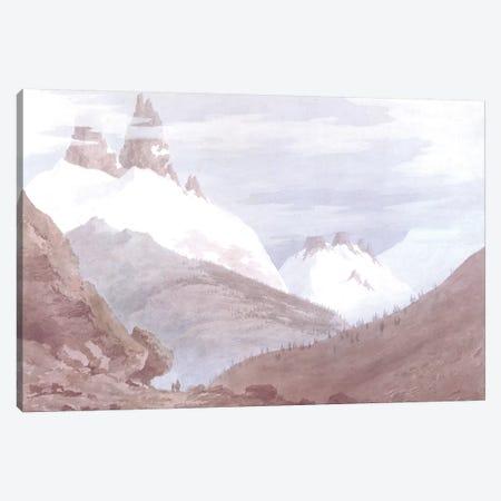 Chamonix and Martigny Canvas Print #BMN262} by John Robert Cozens Canvas Wall Art