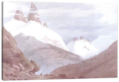 Chamonix and Martigny Canvas Art Print