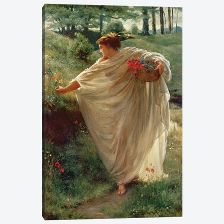 Wild Blossoms  Canvas Print #BMN2630} by Sir Edward John Poynter Canvas Art Print