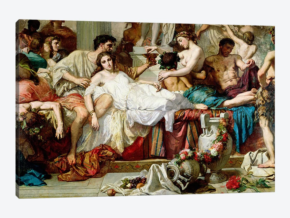 The Romans of the Decadence, detail of the central group, 1847 by Thomas Couture 1-piece Art Print