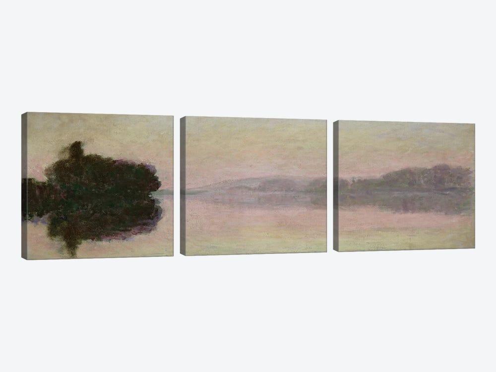 The Seine at Port-Villez, Evening Effect, 1894  by Claude Monet 3-piece Canvas Art