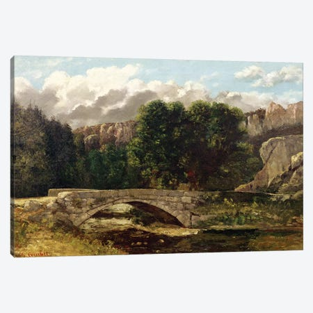 The Pont de Fleurie, Switzerland, 1873  Canvas Print #BMN2633} by Gustave Courbet Canvas Art Print