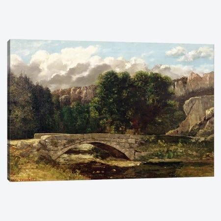 The Pont de Fleurie, Switzerland, 1873  Canvas Print #BMN2633} by Gustave Courbet Canvas Art Print