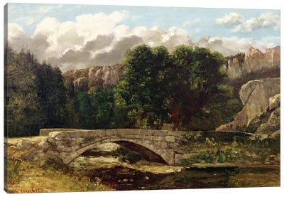 The Pont de Fleurie, Switzerland, 1873  Canvas Art Print