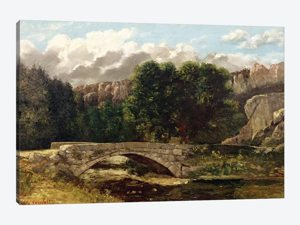 The Pont de Fleurie, Switzerland, 1873  by Gustave Courbet 1-piece Canvas Print