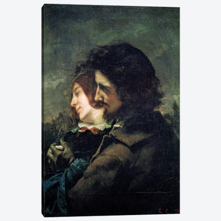 The Happy Lovers, 1844  Canvas Print #BMN2637} by Gustave Courbet Canvas Wall Art