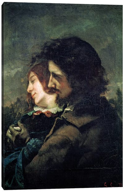 The Happy Lovers, 1844  Canvas Art Print