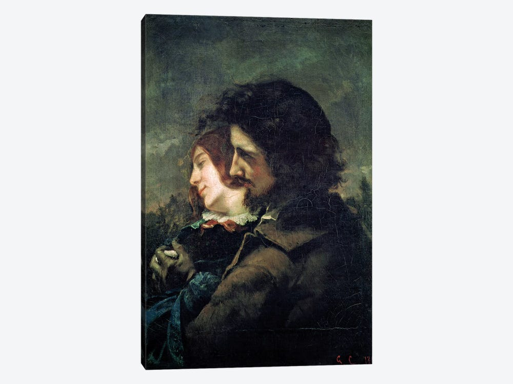The Happy Lovers, 1844  by Gustave Courbet 1-piece Canvas Print