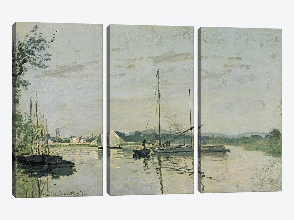 Argenteuil, 1872  by Claude Monet 3-piece Canvas Artwork