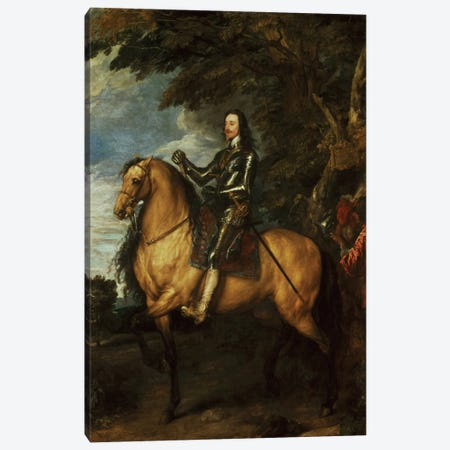 Equestrian Portrait of Charles I  Canvas Print #BMN263} by Sir Anthony van Dyck Canvas Art