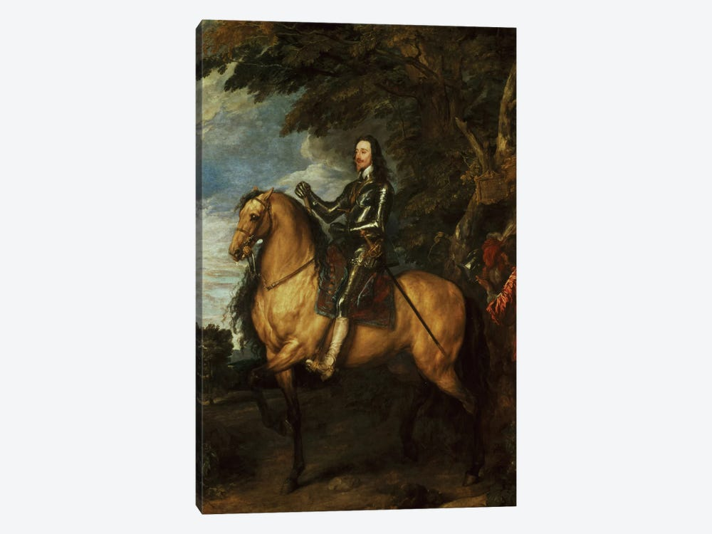 Equestrian Portrait of Charles I  by Sir Anthony van Dyck 1-piece Art Print
