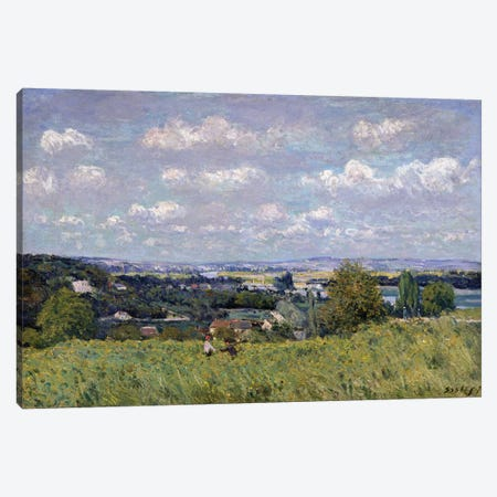 The Valley of the Seine at Saint-Cloud, 1875  Canvas Print #BMN2642} by Alfred Sisley Canvas Art
