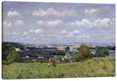 The Valley of the Seine at Saint-Cloud, 1875  Canvas Art Print