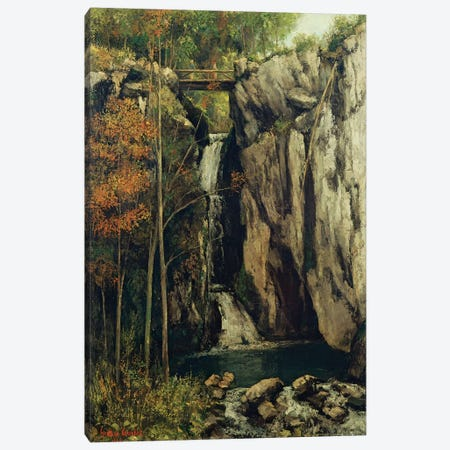The Chasm at Conches, 1864  Canvas Print #BMN2644} by Gustave Courbet Canvas Art Print