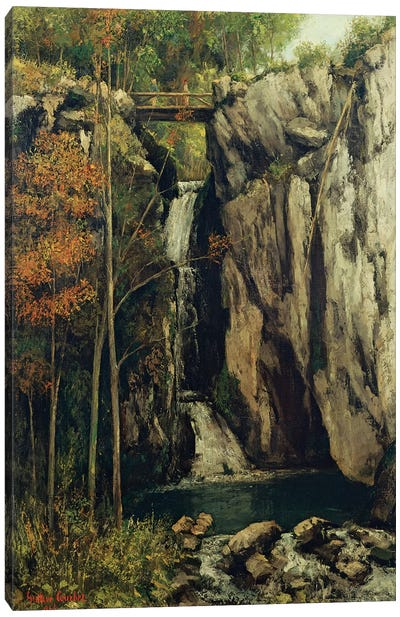 The Chasm at Conches, 1864  Canvas Art Print