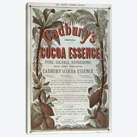 Advertisement for 'Cadbury's Cocoa Essence', from 'The Graphic', 1878  Canvas Print #BMN2645} by English School Canvas Art Print