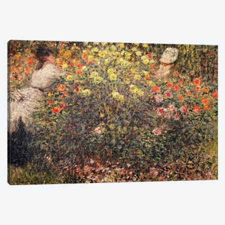 Women in the Flowers, 1875  Canvas Print #BMN2647} by Claude Monet Canvas Print