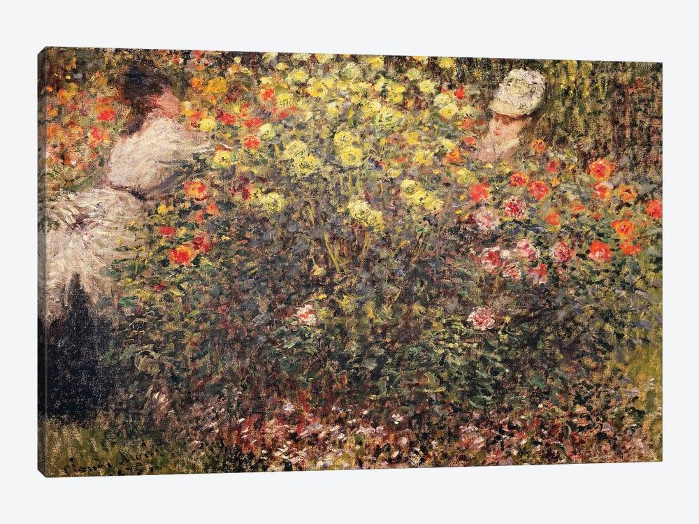 Women in the Flowers, 1875  by Claude Monet 1-piece Canvas Wall Art