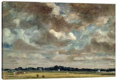 Extensive Landscape with Grey Clouds, c.1821 Canvas Art Print