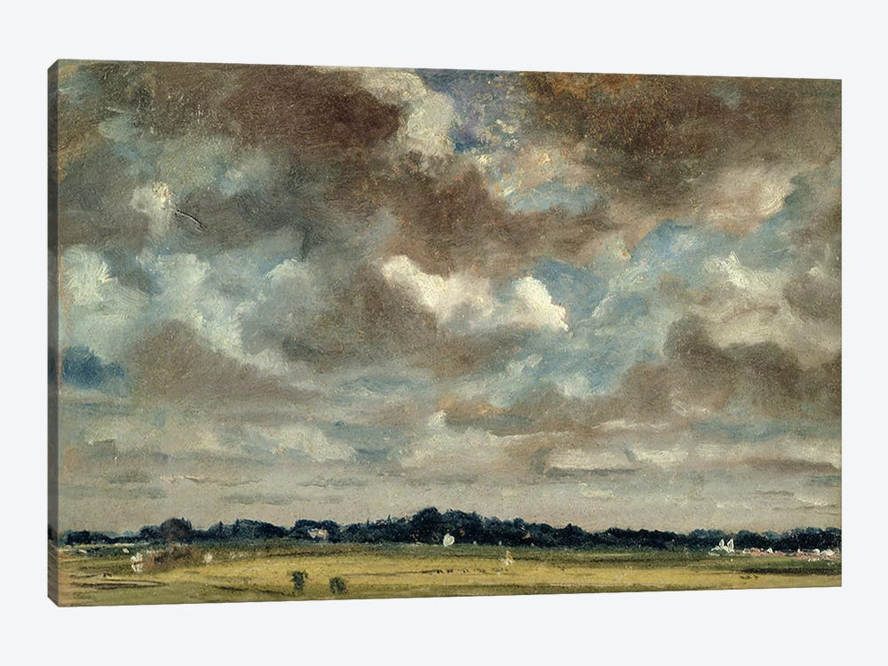 Extensive Landscape with Grey Clouds, c.1821  by John Constable 1-piece Canvas Art Print