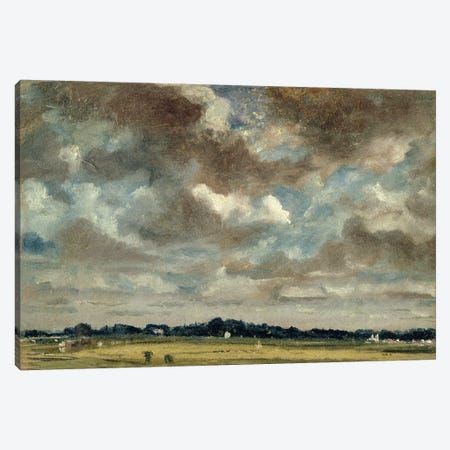 Extensive Landscape with Grey Clouds, c.1821  3-Piece Canvas #BMN2648} by John Constable Canvas Wall Art