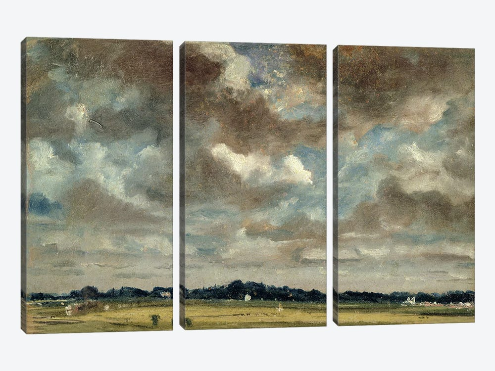 Extensive Landscape with Grey Clouds, c.1821  by John Constable 3-piece Canvas Print