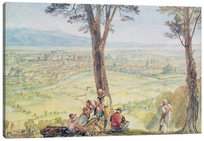 Rome from Monte Mario, c.1818 Canvas Art Print