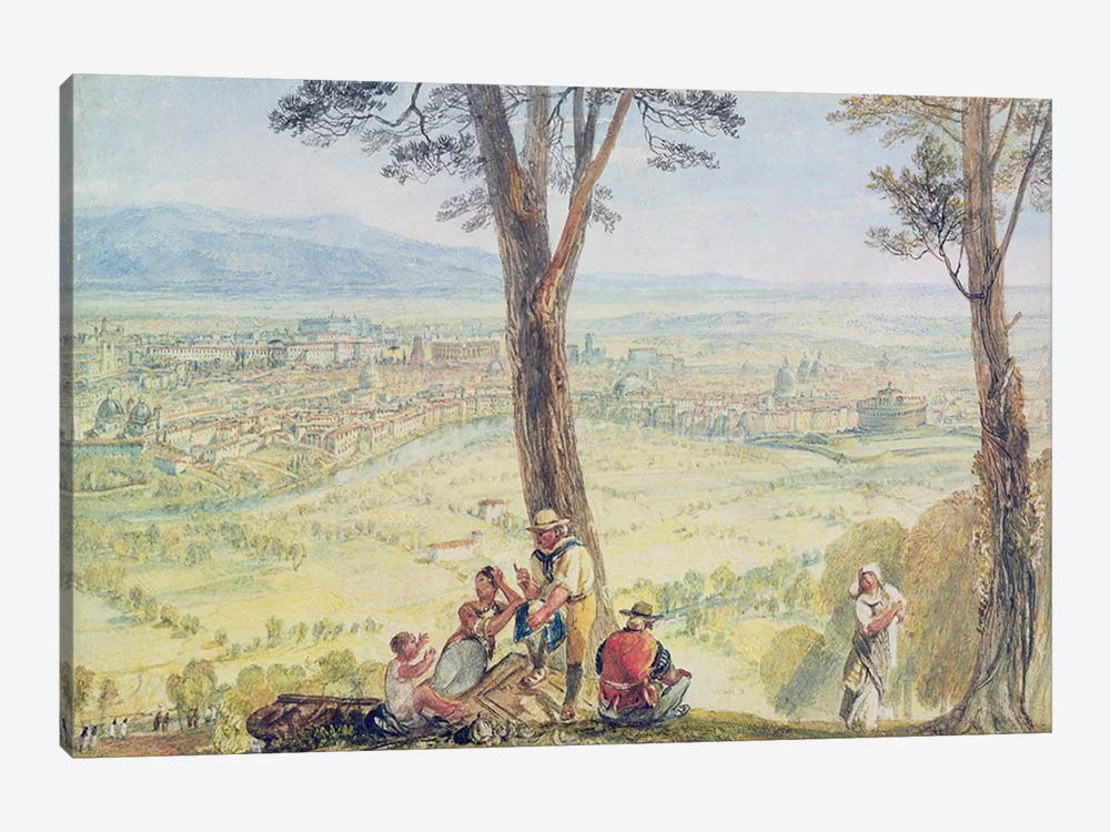Rome from Monte Mario, c.1818  by J.M.W. Turner 1-piece Canvas Artwork