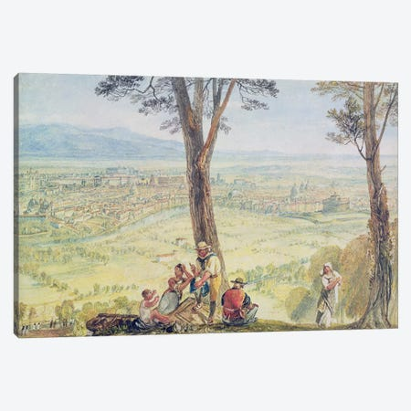 Rome from Monte Mario, c.1818  Canvas Print #BMN2649} by J.M.W. Turner Canvas Art
