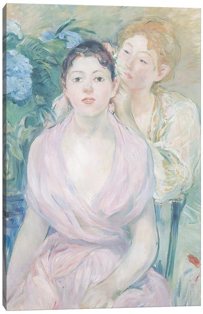 The Hortensia, or The Two Sisters, 1894  Canvas Art Print