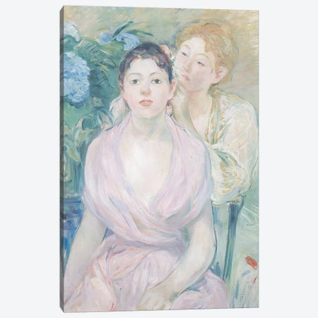 The Hortensia, or The Two Sisters, 1894  Canvas Print #BMN264} by Berthe Morisot Canvas Art Print