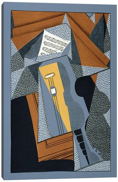 The Guitar, illustration for the poem 'Au soleil du plafond', by Pierre Reverdy  Canvas Art Print