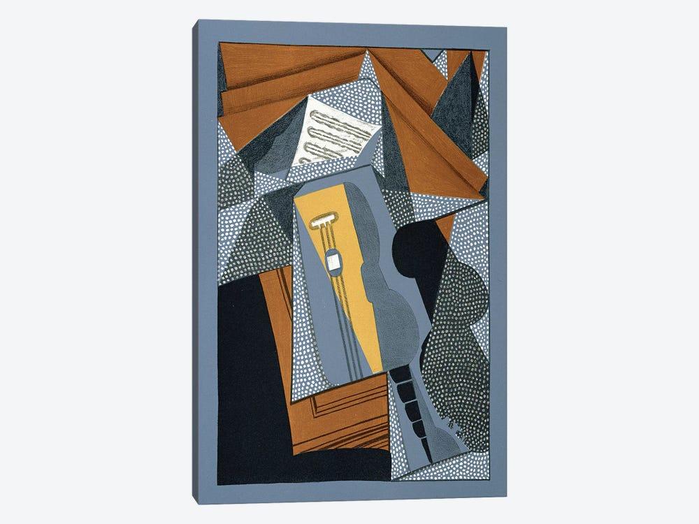 The Guitar, illustration for the poem 'Au soleil du plafond', by Pierre Reverdy  by Juan Gris 1-piece Canvas Artwork