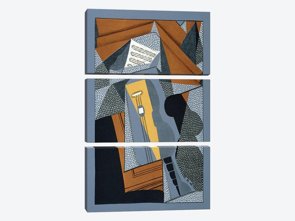 The Guitar, illustration for the poem 'Au soleil du plafond', by Pierre Reverdy  by Juan Gris 3-piece Canvas Artwork