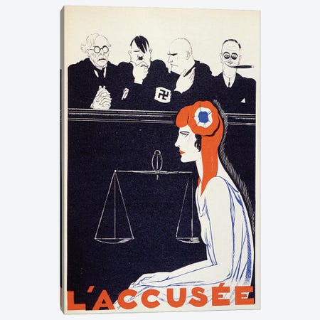 The Accused, 1934  Canvas Print #BMN2651} by Paul Iribe Canvas Print