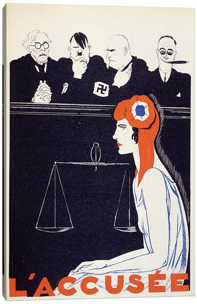 The Accused, 1934  Canvas Art Print