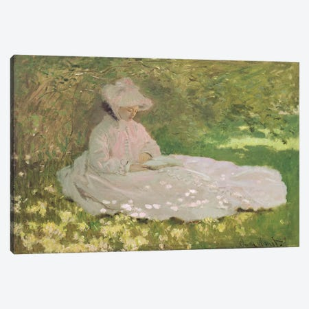 Springtime, 1872  Canvas Print #BMN2653} by Claude Monet Canvas Print