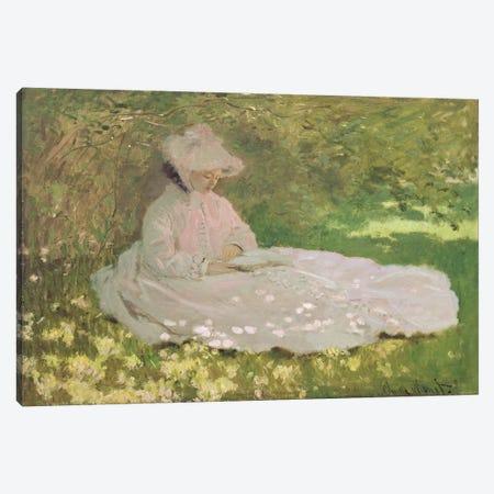Springtime, 1872  Canvas Print #BMN2653} by Claude Monet Canvas Print