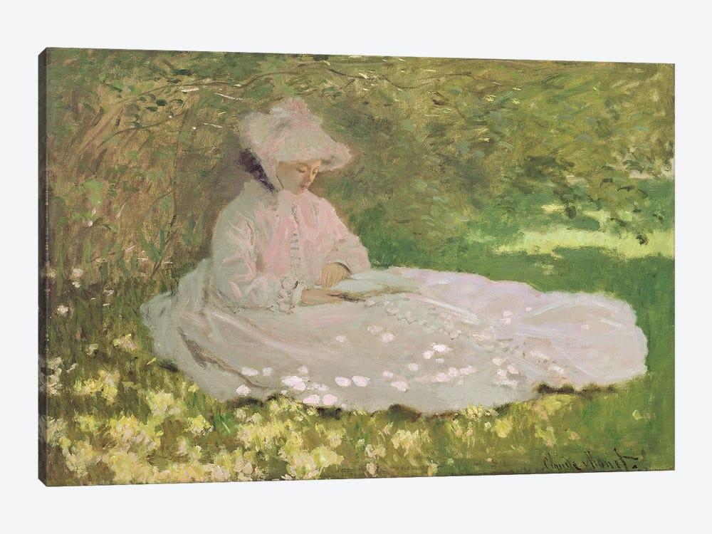 Springtime, 1872  by Claude Monet 1-piece Canvas Print