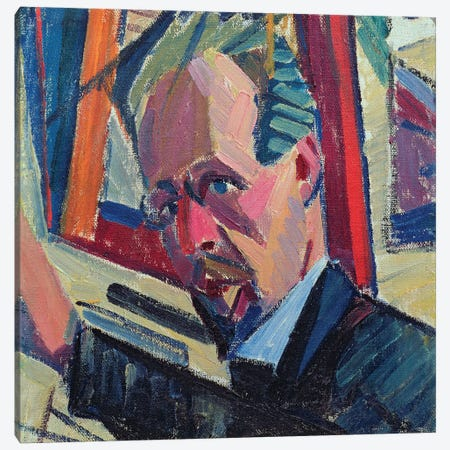 Self Portrait, 1913  Canvas Print #BMN2657} by Alexander Bogomazov Canvas Art