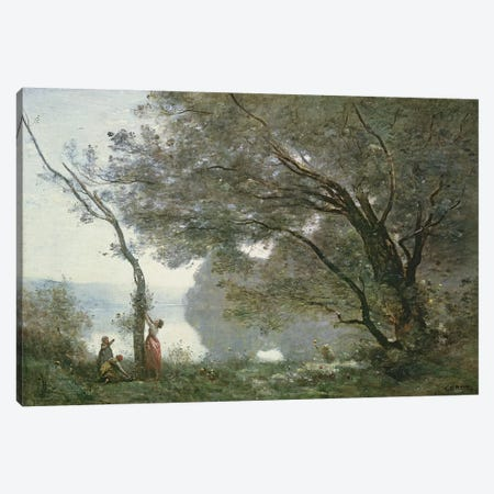 Souvenir de Mortefontaine, 1864  Canvas Print #BMN2659} by Jean-Baptiste-Camille Corot Canvas Print