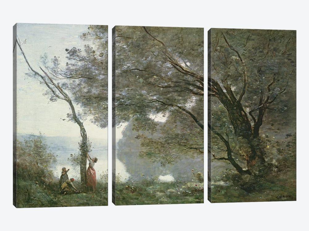 Souvenir de Mortefontaine, 1864  by Jean-Baptiste-Camille Corot 3-piece Canvas Print