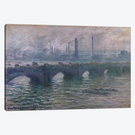 Waterloo Bridge, 1901 Canvas Print #BMN265} by Claude Monet Art Print