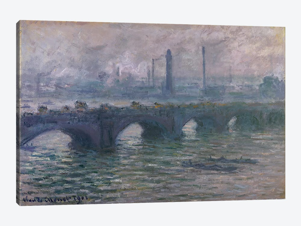 Waterloo Bridge, 1901 by Claude Monet 1-piece Canvas Print